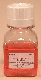 Freeze Drying Indicator combines protein stabilizers with a colorimetric indicator that turns blue when freeze drying is complete